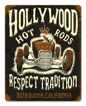 Hollywood Roadster Vintage Metal Sign