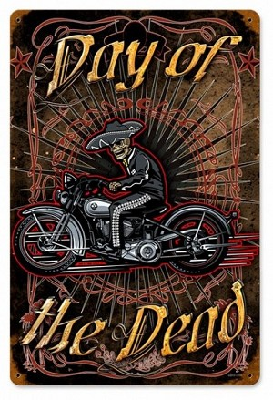 Day Of The Dead Vintage Metal Sign