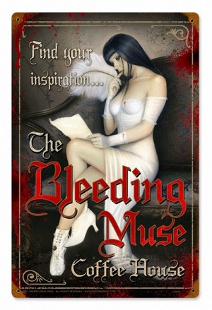 Bleeding Muse Vintage Metal Sign