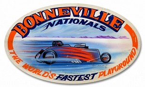 Bonneville Nationals Metal Sign