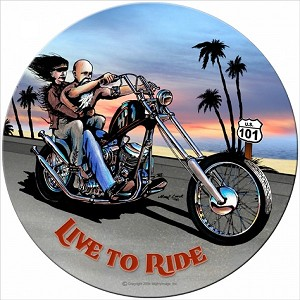 Live to Ride Metal Sign