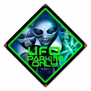 UFO Parking Vintage Metal Sign