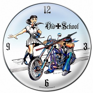 Old School Metal Clock