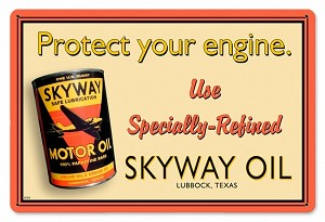 Skyway Oil Metal Sign