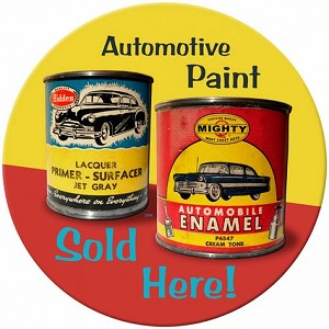 Auto Paint Metal Sign