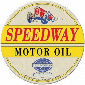 Speedway Oil Metal Sign