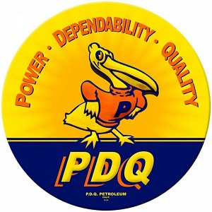 PDQ Duck Metal Sign