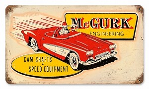 McGurk Engineering Vintage Metal Sign
