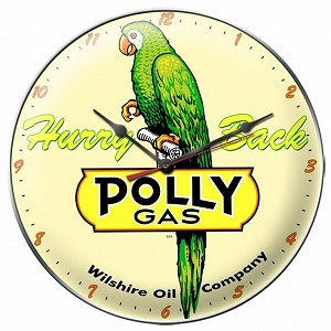Polly Gas Metal Clock
