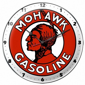 Mohawk Gas Metal Clock