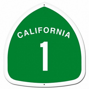 California Metal Sign