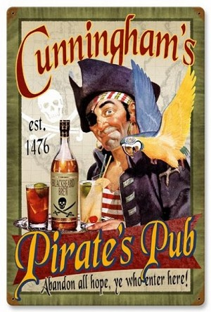 Pirates Pub Vintage Metal Sign
