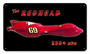 Redhead Metal Sign