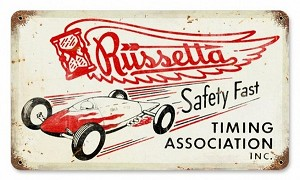Russetta Timing Assoc Vintage Metal Sign