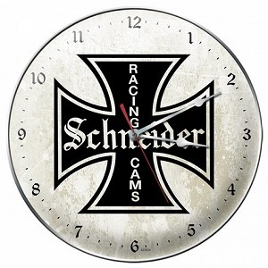 Schneider Cams Metal Clock