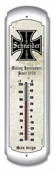 Schneider Cams Metal Thermometer