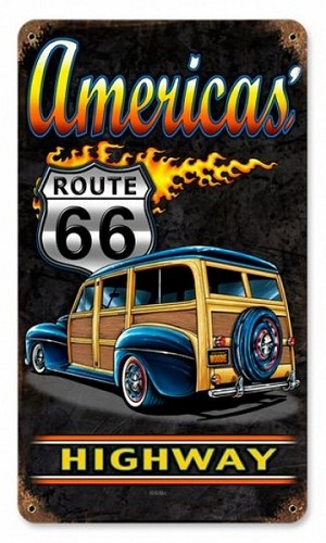America Highway Vintage Metal Sign