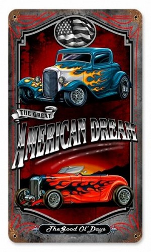 American Dream Vintage Metal Sign