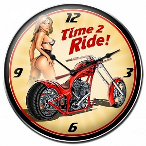 Time 2 Ride Metal Clock