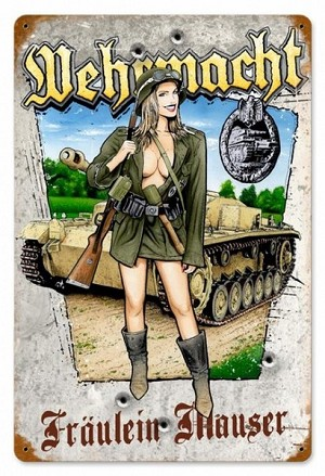 Wehrmacht Vintage Metal Sign