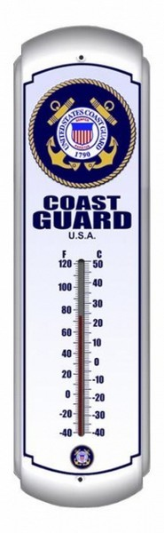 Coast Guard Metal Thermometer