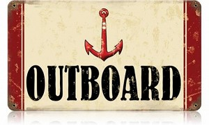 Outboard Vintage Metal Sign