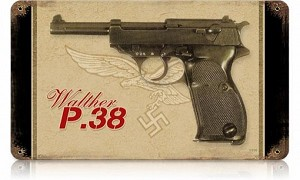 Walther P.38 Vintage Metal Sign