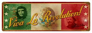 Viva La Revolution Vintage Metal Sign