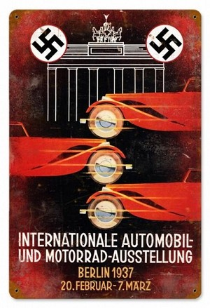 International Auto Show Vintage Metal Sign
