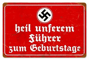 Heil Fuhrer Vintage Metal Sign