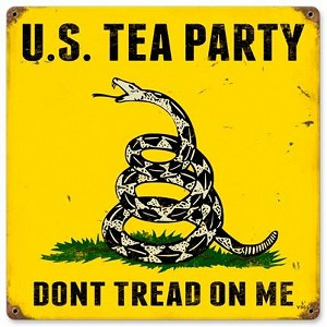 US Tea Party Vintage Metal Sign