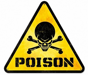 Poison Metal Sign