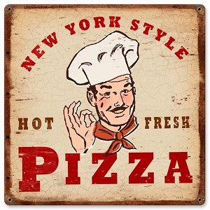 New York Pizza Vintage Metal Sign