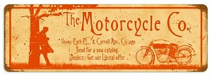 Motorcycle Company Vintage Metal Sign