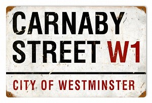 Carnaby Street Vintage Metal Sign