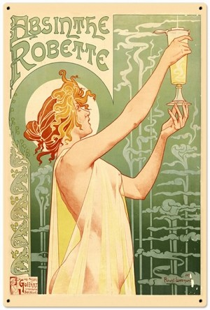 Absinthe Robette Metal Sign