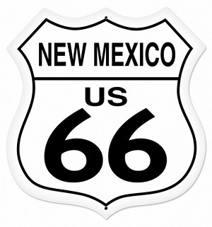 New Mexico Route 66 Metal Sign