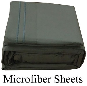 Gray Microfiber Sheets, Twin Size,  Deep Pocket