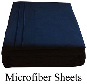 Navy Blue, Microfiber Sheets, Queen Size,  Deep Pocket