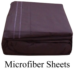 Purple Microfiber Sheets, Twin Size,  Deep Pocket