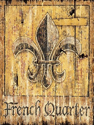 Personalized French Quarter Antiqued Wood Sign