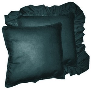 Dark Teal Solid Colored Ruffled or Corded Pillows Set of 2