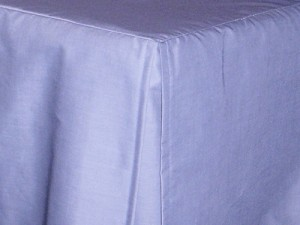 Twin XL Blue Tailored Dustruffle Bedskirt