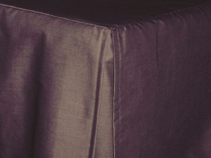 Twin Eggplant Tailored Dustruffle Bedskirt