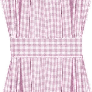 Light Purple Gingham Check French Door Curtains