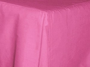 3/4 Three Quarter Fucshia Tailored Dustruffle Bedskirt