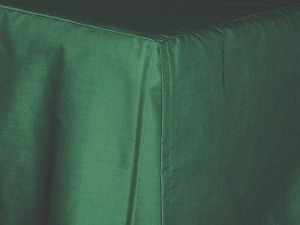 Twin XL Hunter Green Tailored Dustruffle Bedskirt