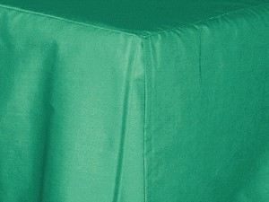 Twin Jade Green Tailored Dustruffle Bedskirt