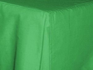 Twin Kelly Green Tailored Dustruffle Bedskirt