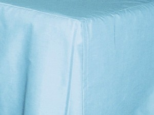 Baby Crib Light Blue Tailored Dustruffle Bedskirt